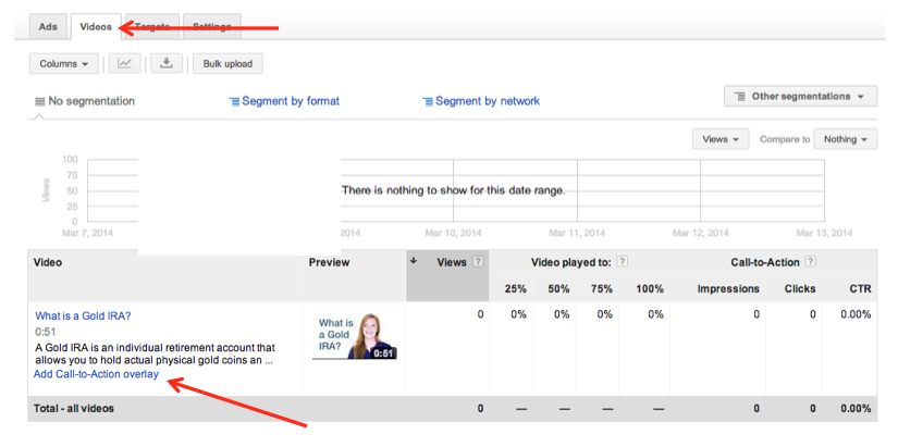 google adwords youtube video remarketing call to action